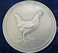 Large Silver Poultry Medal, Egg Laying Test 1937 - 38, C.Van Dionant
