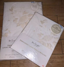 Helena Springfield Embroidered Luxury Percale Single Bed Set NEW Firenze (A20)