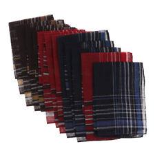 12er Pack Herren Taschentuch Stoff Taschentücher aus Baumwolle (Farbe