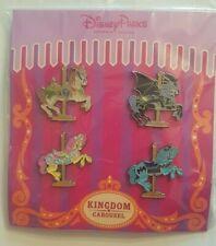 Booster de 4 Pin's Disney KINGDOM CARROUSEL HORSES NEUF