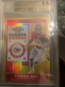 2019 Panini Contenders Optic Gold 01/10 Tyreek Hill #36 Chiefs BGS 9.5