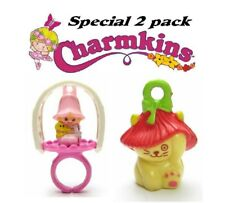 Charmkins Poppy the cat &  Li'l Tulip ring charms mint in sealed special 2 pack