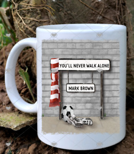 FREE POSTAGE PERSONALISED STREET SIGN FOOTBALL FAN TEAM MUG CUP GREAT GIFT DAD