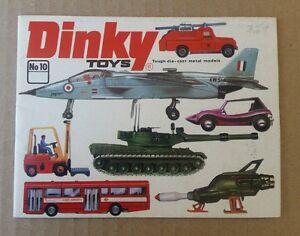 Vtg 1974 Dinky Diecast Model Toy Catalogue No 10 Brochure Book Catalog
