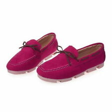 Women's Solid Synthetic Flats