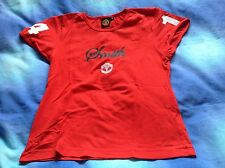 Manchester United - Alan Smith 14 Red T Shirt - Official Merch - Size UK 8