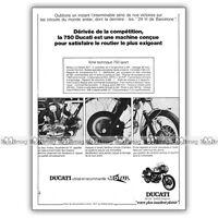 PUB DUCATI 750 SPORT (750 S 750S) - Original Advet / Publicité Moto de 1973