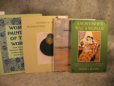 lot old ART BOOKS Anonymous was a woman Georgia O'Keeffe John Singer Sargent &