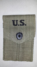 M1911 / M1911A1 WWII Style Canvas Belt Loop Dual Magazine Pouch