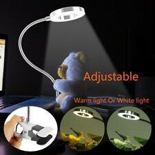 Flexible Reading Light Clip On Usb Desk Lamp Clamp LED Bed Table Bedside Night