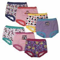 Disney Minnie Mouse Girls Training Pants 3T 7-pack Panties Underwear Toddler