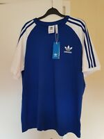 Adidas Originals 3 Stripes T Shirt in Royal Blue & White trefoil BNWT