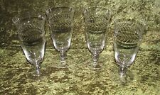 Tiffin Franciscan Simplicty Tall Footed Ice Tea Glasses Ball Stem Set of 4