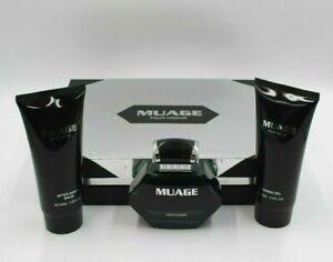 Muage Pour Homme Eau De Toilette, After Shave Balm, and Shower Gel Gift Set