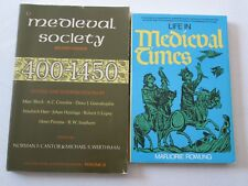MEDIEVAL SOCIETY and LIFE IN MEDIEVAL TIMES LOT OF 2 HISTORY PAPERBACKS European