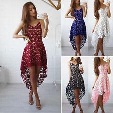 UK Womens Lace Summer Sleeveless Short Mini Dress Evening Cocktail Party Dresses