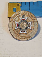 Veterans of Foreign Wars Pin Diamond Anniversary Ladies Auxiliary 1914 - 89 VFW