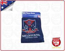 AFL Melbourne Demons Football Club Polar Fleece Throw Official Merchandise