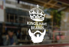25cm Kings have beards Queen Crown Vinyl Sticker Decal Car Auto Computer Laptop