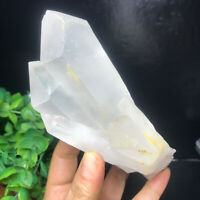 410g  Natural Clear White Quartz Crystal Cluster Rough Healing Specimen 14