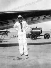 8x10 Print Amelia Earhart Lockheed Electra 10E Special Pith Helmut #AE57