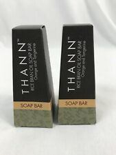 Two Thann Rice Bran Soap Bars, Travel 1.3 Oz Each