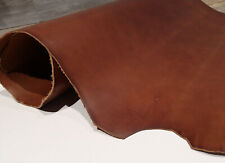 Medium Brown Leather Hide, Veg Tanned Leather - Full Grain Veg Tan Tooling Side