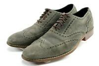 Cole Haan NikeAir Colton Suede Wingtip $198 Men's Oxford Shoes Size 10 Grey
