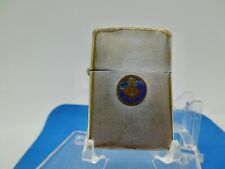 VINTAGE RARE 1937-1950 3 BARREL HINGE ZIPPO LIGHTER FREE MASON 2032695 PREOWNED