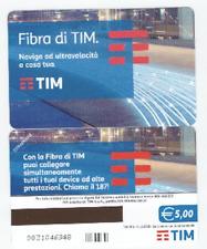 SCHEDA TELEFONICA NUOVA  TELECOM EURO FIBRA DI TIM