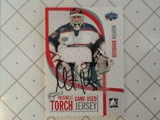 2005 ITG  Passing The Torch Martin Brodeur game used jersey autograph RARE