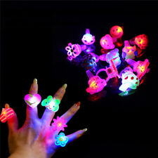 5Pcs Flashing Jelly LED Cartoon Ring Pinata Fillers Kids Girl Party Favor Bag FO