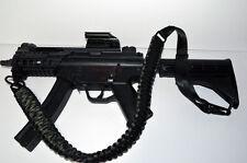 Tactical 550 Paracord Rifle Gun Sling Hunting Airsoft 2 Point (Black /Green mix)