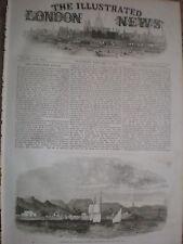 Bassadore sur l'île de Kishim Golfe Persique 1857 OLD PRINT et l'article