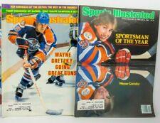 Wayne Gretzky Edmonton oilers Sports Illustrated Lot of 2 - 1982 to 1983