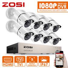 ZOSI 1080P 8CH HDMI DVR Outdoor 2MP Überwchungskamera Set CCTV System 2TB 30M IR