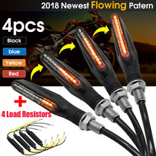 4 Sequential Flowing LED Turn Signal Indicator Light + Load Resistors Motorcycle