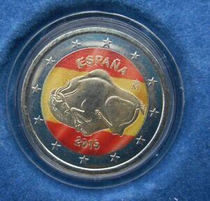 2 euro COMMEMORATIVE COLORISEE COULEUR ESPAGNE ESPANA  2015