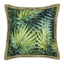 NEW KOO Home Tropics Printed Leaf Cushion By Spotlight
