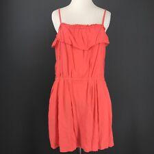 J CREW Dress M Pink Solid 41377 Rayon Ruffle Pocketed Blouson