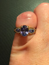 Gems En Vogue Tanzanite 3 Stone Ring