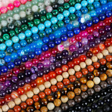 Lots Natural Gemstone Round Spacer Loose Beads - Choose 4MM 6MM 8MM 10MM 12MM