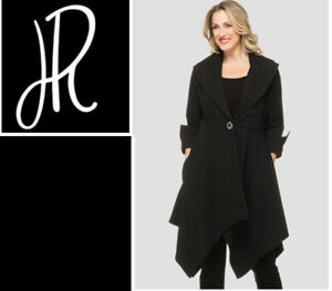 Joseph Ribkoff Black Asymmetric A Line Coat size UK 12 RRP £355.00