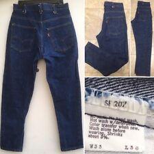 Vintage Levis 646 Jeans TAPERED LEG 1646-0217 33 30 Measure 32 27 1/2 Orange Tab