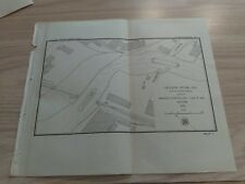 1897 Chicago River Channel Draw Western Ave.C&NW RR Bridge Illinois Diagram Map