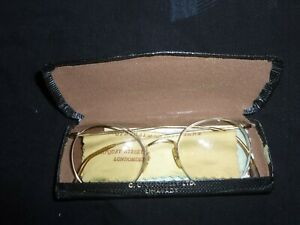 Algha Classic Vintage round Glasses 12kt Gold Filled with Case Spectacles