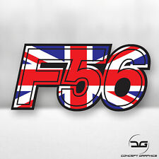 Mini Union Jack UK Cooper S F56 Euro Car Dash Window Bumper Vinyl Decal Sticker