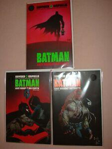 Batman Last Knight on Earth Lot of Three DC Comics