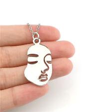 "Chain Charm Necklace 18"" 22342 Irregular Human Face"