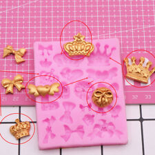 1pc Silicone 3D Crown Fondant Cake Chocolate Sugarcraft Mold Baking Mould Decor